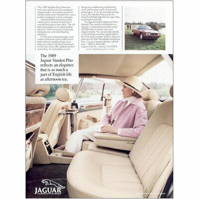 1989 Jaguar Vanden Plas: Reflects an Elegance Vintage Print Ad