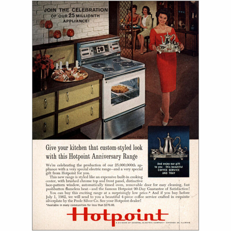 1962 Hotpoint: 25 Millionth Appliance Vintage Print Ad