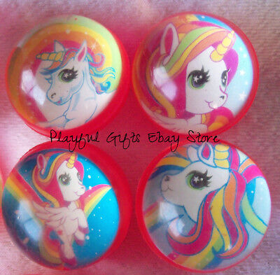 12 Unicorn Bounce Balls Toy Party  Princess](Party Balls)