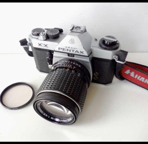 [NEAR MINT] PENTAX KX SLR 35mm Film Camera w / SMC PENTAX-M 135mmF3.5 From JAPAN