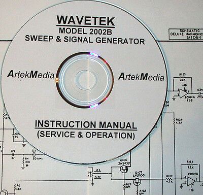 Wavetek 2002b Sweep Signal Generator Instruction Manual Operating Service