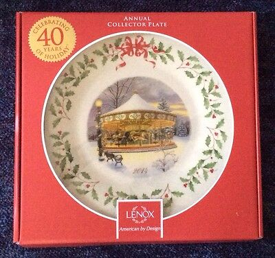 Lenox 2014 Annual Holiday Collector Plate Holiday Carousel New In Box 1St Q