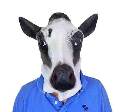 Mit Kapuze Milch Kuh Maske Film Qualität Nutztier Moo - Filme Mit Kostüm