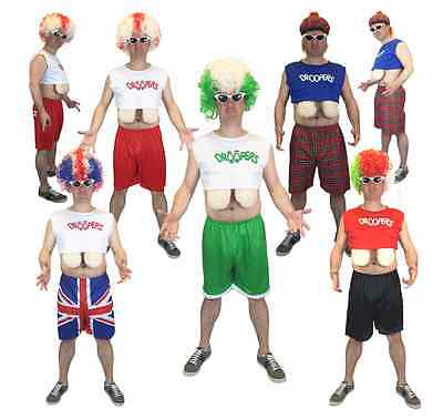 Adult Men's Funny World Droopy Boobs Stag Party Costume Hooters Fancy Dress Wig ()