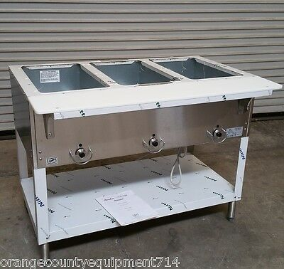 New 3 Well Gas Steam Table Duke Aerohot Db303 Dry Bath Nsf 4405 Commercial