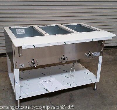 New 3 Well Lp Propane Steam Table Duke Aerohot 303-lp Dry Bath 5938 Commercial
