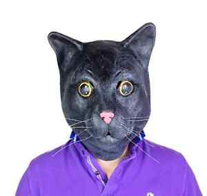 Gato-Negro-Mascara-Alta-Calidad-Gatito-Pelicula-Accesorio-latex
