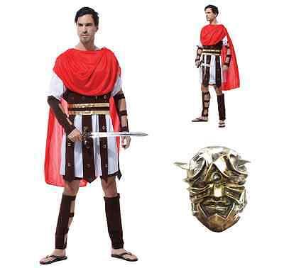 Erwachsene Herren Römisch Griechisch Gladiator Warrior King Caesar Kostüm 1