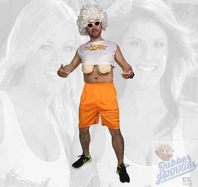 Adult Men's Funny Droopers Hooters Big Fake Boobs Fancy Dress Stag Party - Droopers Fancy Dress Kostüm