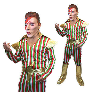 Adult Ziggy Stardust Costume 70s David Bowie Mens Pop Star Fancy Dress (David Bowie Fancy Dress Kostüme)