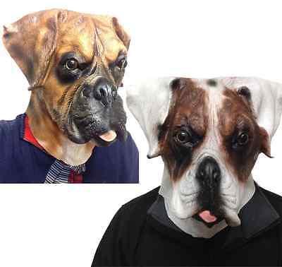 Boxer Hund Maske Latex Ganzer Kopf Deluxe Hunde Tiermasken Maskenkostüm