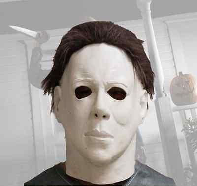 Michael Myers Halloween-kostüme (Michael Myers Latex Halloween Maske Horror Masken Deluxe Erwachsene Kostüm)