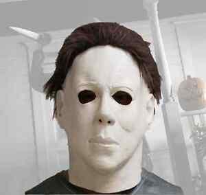 Michael Myers Latex Halloween Mask Horror Masks Deluxe Adult Fancy Dress Costume