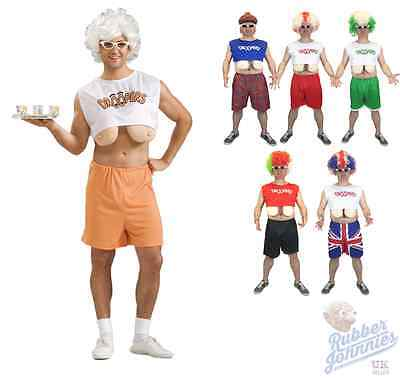 Mens Funny Droopers Stag Party Costume Fake Boobs - Hooters Droopers Kostüm