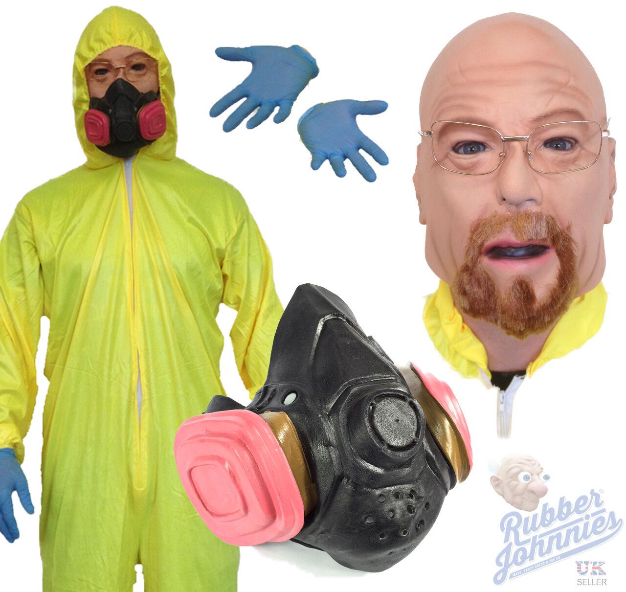 Breaking Chemist Bad Yellow Hazmat Suit Costume Fancy Dress Walter ...