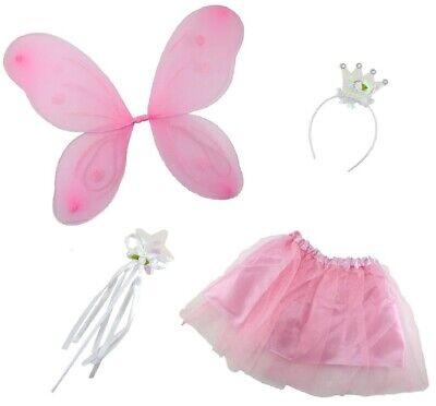 Kit Travestimento PRINCIPESSA DELLE FARFALLE Bambina Costume Carnevale Ali Fata