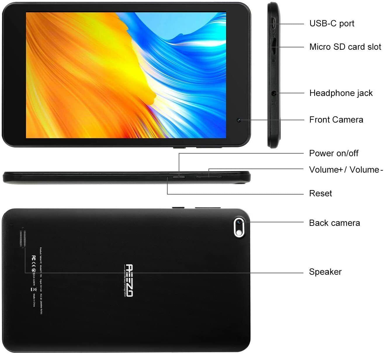 Tablette 7 pouces fhd, écran tactile 1080p ips, android 10 (neuf)