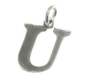 STERLING-SILVER-CHARM-Initial-Dangling-Letter-U