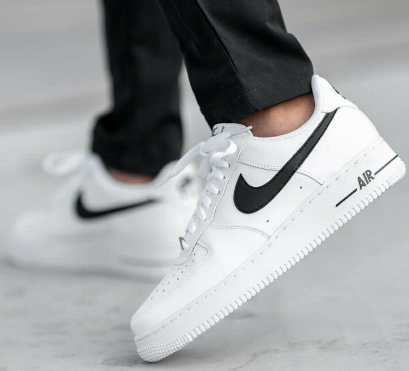 Nike Air Force One 1 Low AN20 White Black Sneakers Men's Lifestyle Comfy Shoes