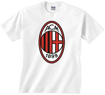 AC MILAN T-SHIRT - OFFICIAL ITALIAN FOOTBALL CLUB TEE