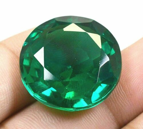 76.90Ct Colombian Natural Green Emerad Round Cut Certified Loose Gemstone GO0303