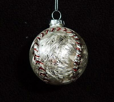Mercury Glass Baseball Christmas Ornament - NWT - Baseball Christmas