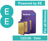 Vectone EE 100GB Mobile Broadband Data Sim for Unlock Dongle Tablet iPad Mobiles