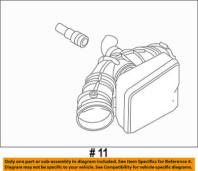 FORD OEM Air Cleaner Intake-Air Duct Tube Hose 9G1Z9B659A