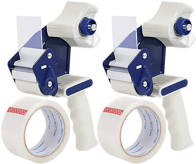 Jarlink Clear Packing Tape 12 Rolls Bundle With 2 Dispenser Guns With 2 Rolls