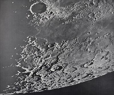 1960 Lunar Moon Map Photo Frigoris East D1-d Mount Wilson Observatory Plate W189