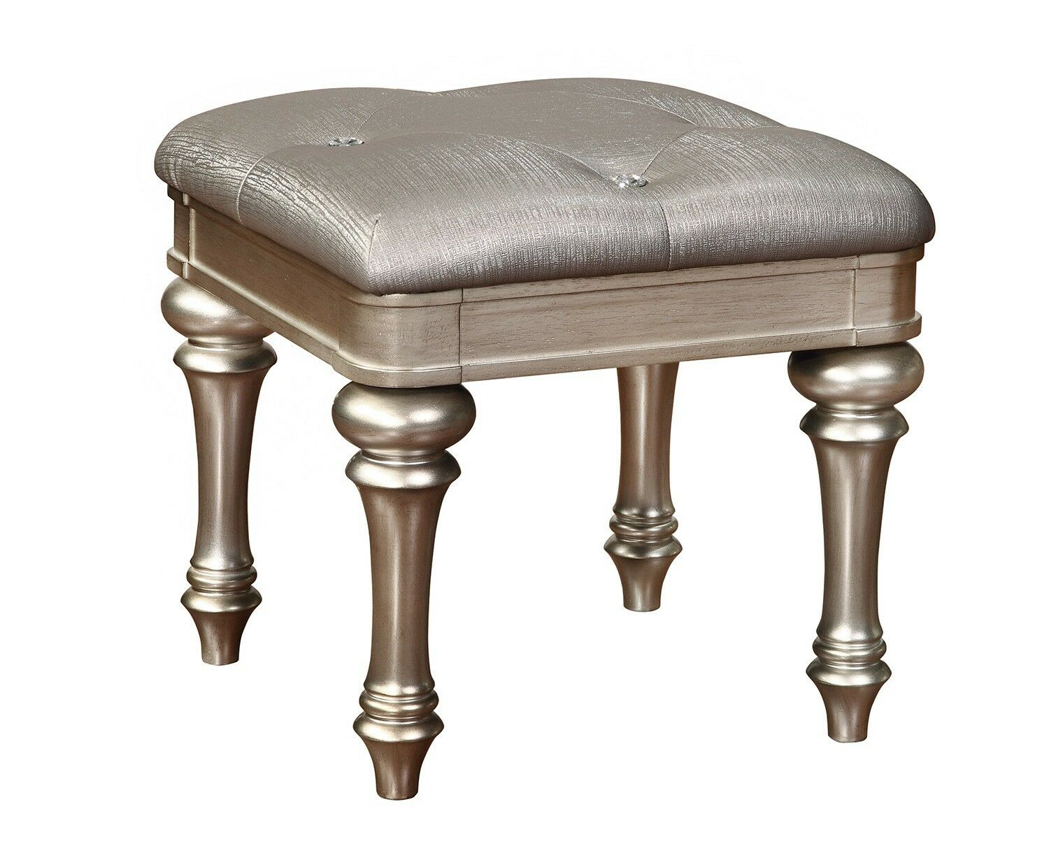$106.99 - Coaster Home Furnishings 204189 Bling Game Collection Jewel Tufted Vanity Stool