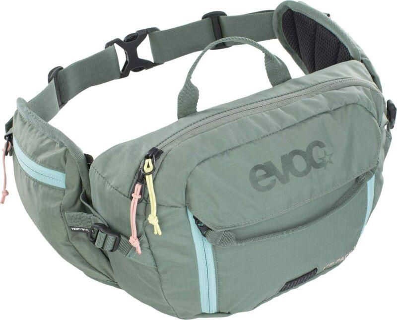 Evoc Olive Hip Pack 3L + 1.5L Bladder Hydration Pack Technical Bike Bag