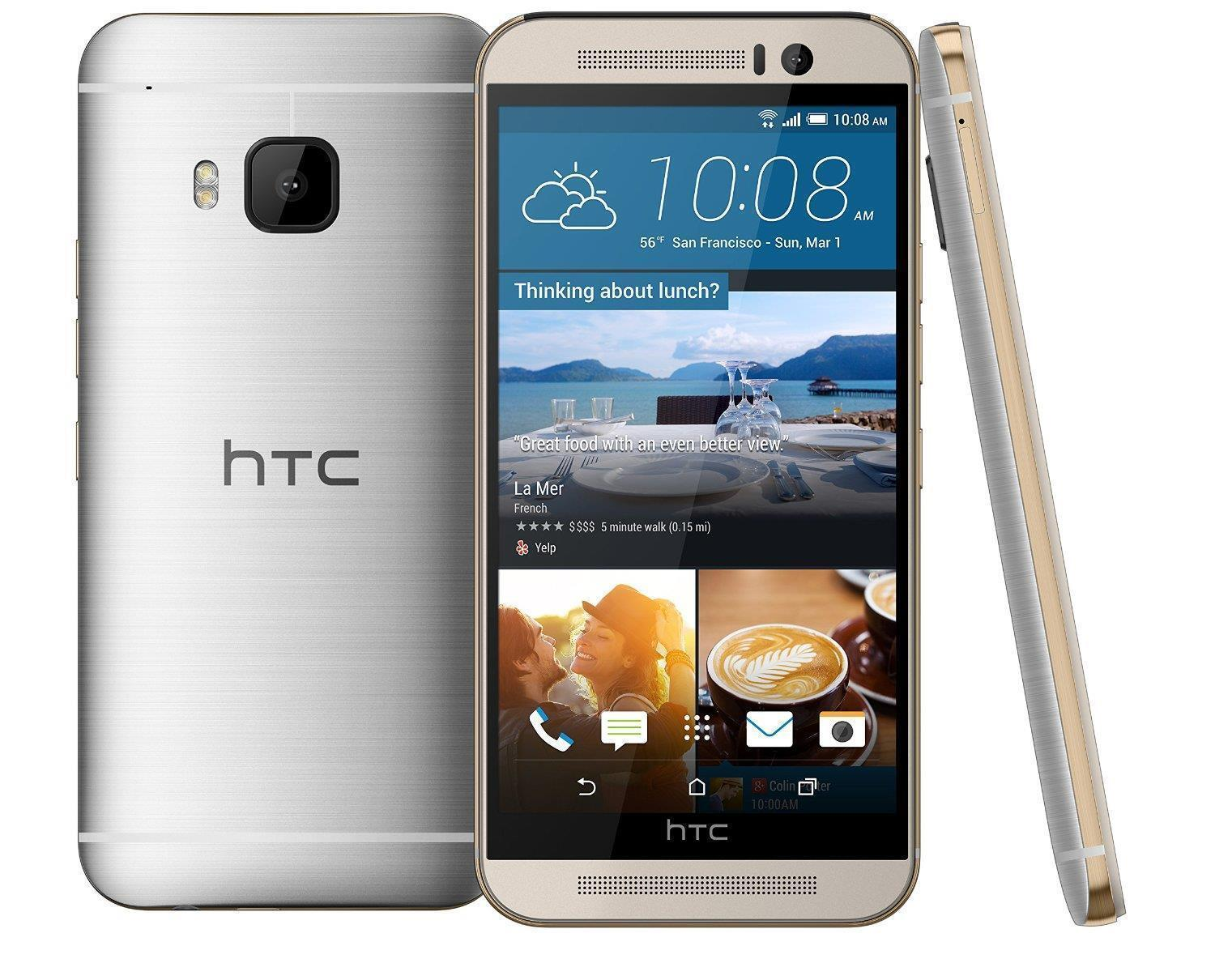 Htc One - HTC One M9-32GB-GOLD ON SILVER(T-MOBILE) GOOD CONDITION-WITH WARRANTY!