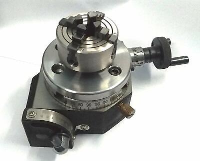 3 Inches 75 Mm Tilting Rotary Table 50 Mm 4 Jaws Independent Chuck Bpt-nut