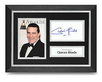 Ciaran Hinds Signed A4 Photo Framed Harry Potter Memorabilia Autograph Display
