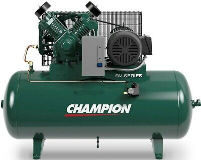 Champion Air Compressor Hrv10-12 10 Hp 120 Gal Three Phase 460 Volt
