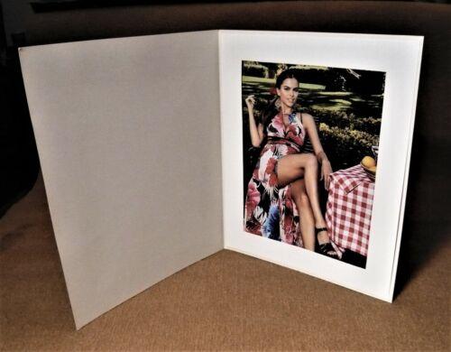 8x10 Basic Antique OFF White Photo Folders - Pack of  40.
