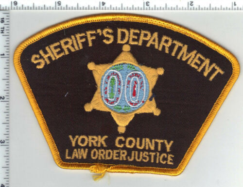 York County Sheriff Dept. (South Carolina) Shoulder Patch 1980