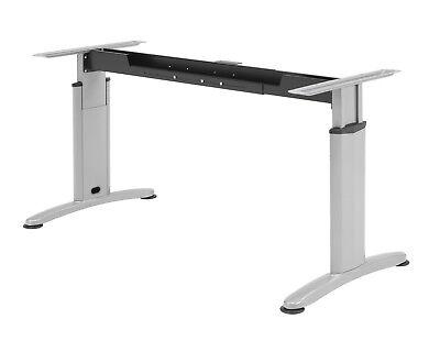 Schreibtisch Gestell Silber - Verstellbar in BREITE und HÖHE- Profi Tischgestell - Höhe Verstellbarer Schreibtisch
