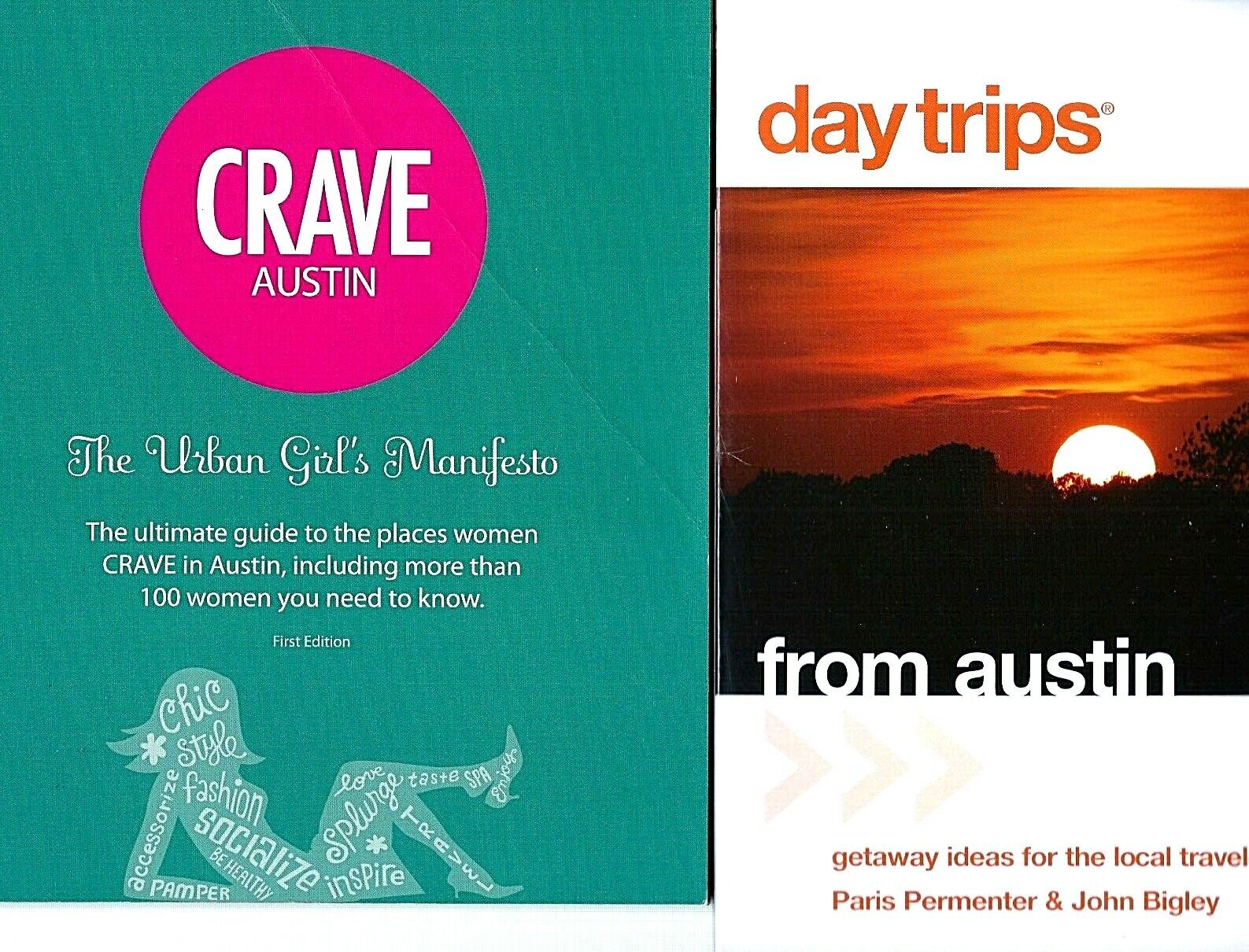 2 Books on Things to Do in and Around Austin, Texas: Crave Austin & Day Trips