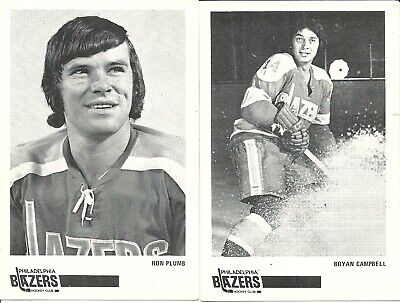 b9ccc889a WHA 1972-73 Ron Plumb Brian Campbell Philadelphia Blazers Team Issued Post  Cards