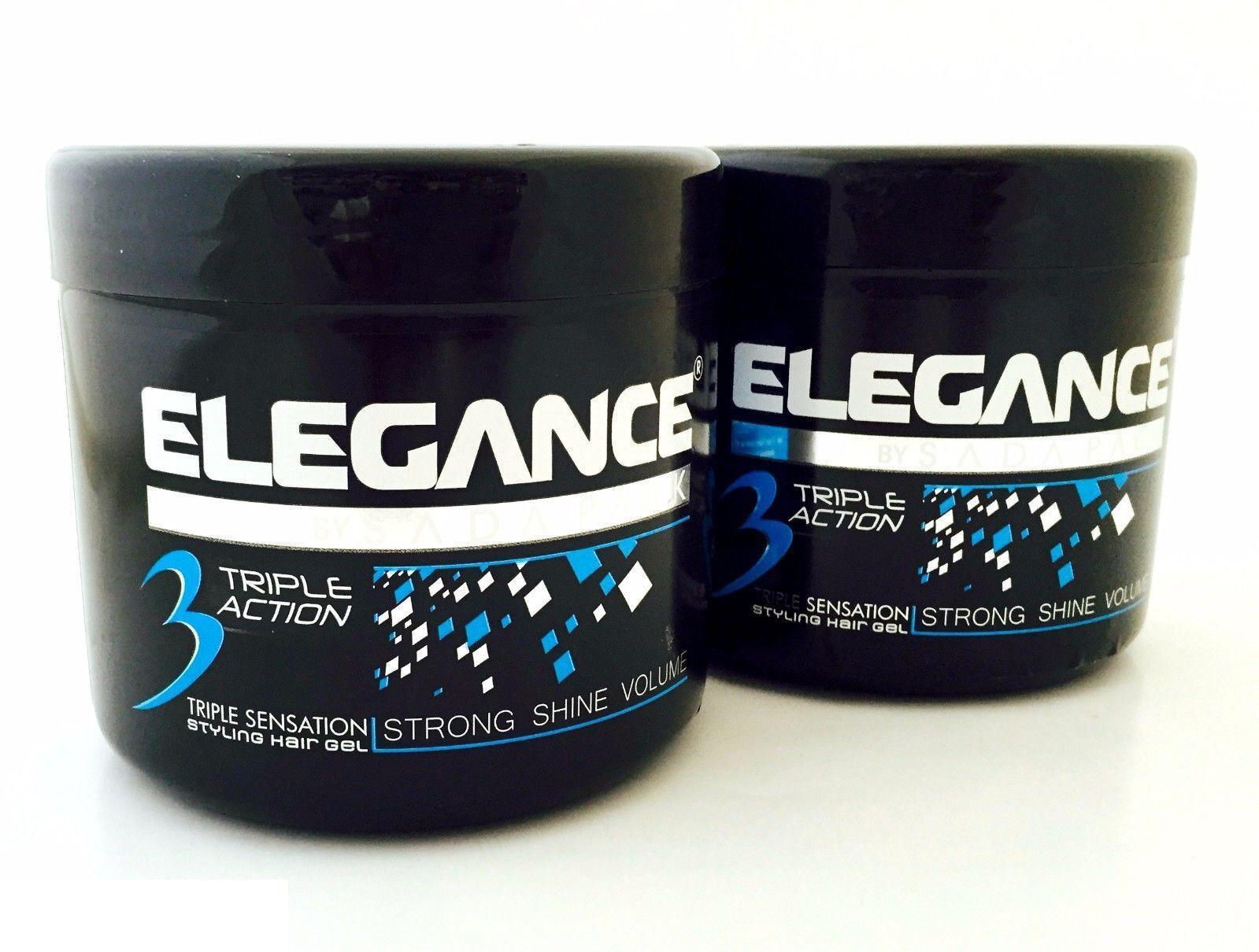 Elegance Triple Action Hair Gel Blue 500 ML