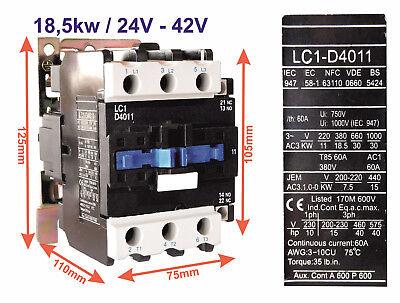 Leistungsschütz LC 1 - D 5,5KW / 7,5KW / 11KW / 15KW - Spule 24V & 42V - 24v Schütz