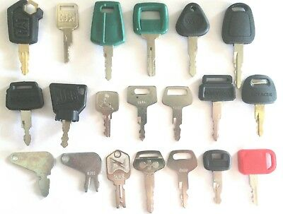 20 Keys Heavy Equipment Construction Equipment Ignition Key Set- High Quality