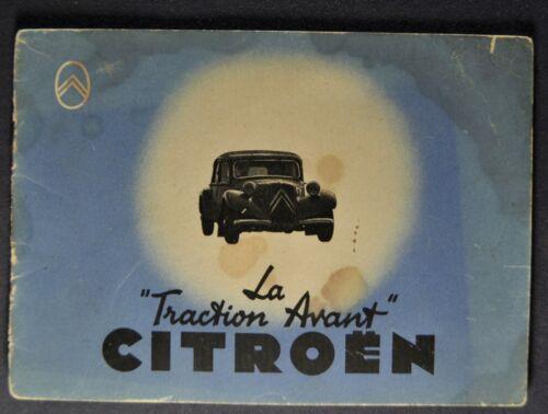 1939 Citroen Small Brochure Berline Limousine Cabriolet French Text Original 39