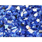"""10 LBS 1/4"""" SAPPHIRE(COBALT BLUE) REFLECTIVE ,Fireplace,Fire Pit Glass Rocks"""