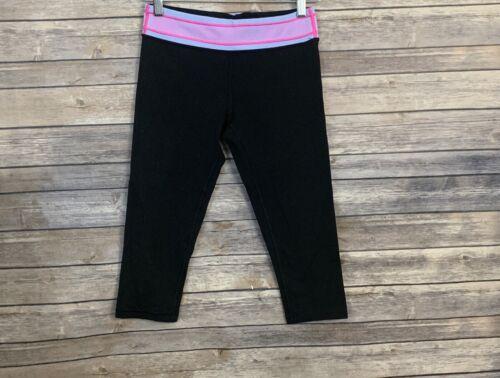 Ivivva Girls Black Capri Leggings (Size: 14)