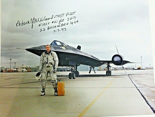 SR-71 FIRST FLIGHT TEST PILOT ROBERT GILLILAND (DEC.)-SIGNED 8X10 PHOTO+ BONUS
