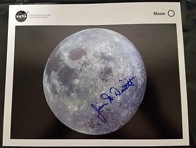 "James Alton ""Jim"" McDivitt hand signed NASA moon photo Gemini Apollo 9 astronaut"