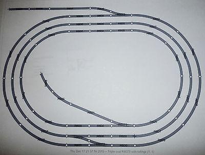 Hornby Job Lot of 00 Gauge Steel Track triple Oval with sidings